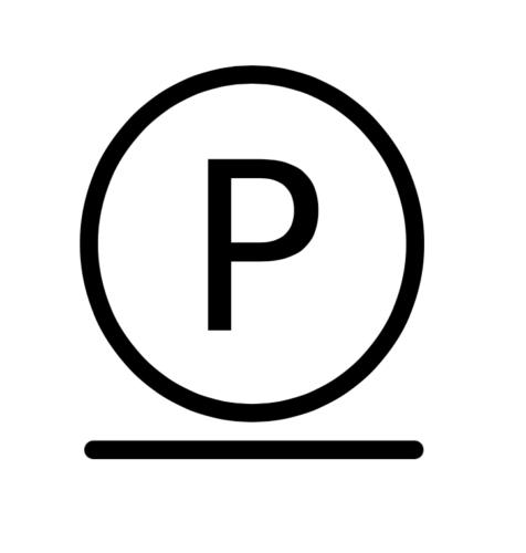 Буква P с чертой