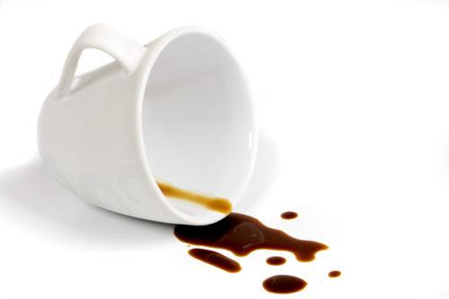 Кофе сложно вывести с текстиля