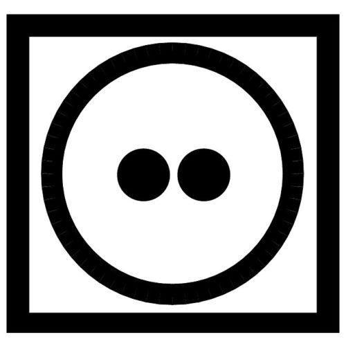 Круг с двумя точками