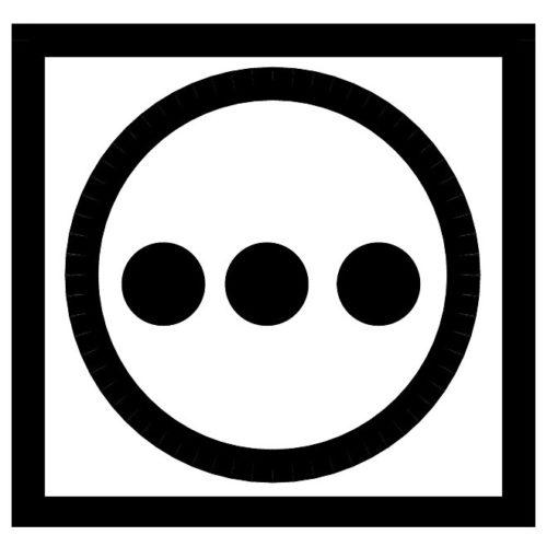 Круг с тремя точками
