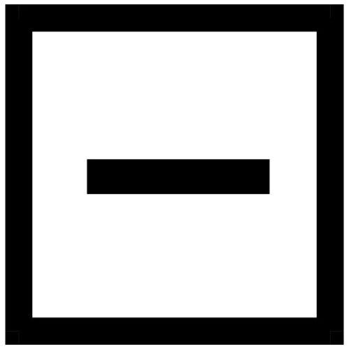 Квадрат с горизонтальной чертой