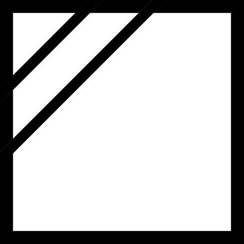 Квадрат с темным уголком