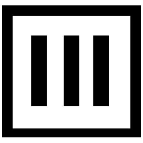 Квадрат с тремя полосами