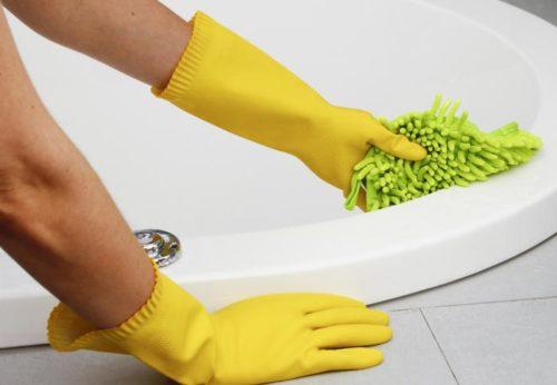 Мытье ванные и туалета