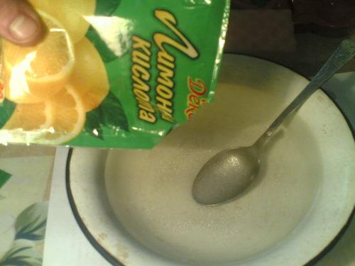 Сделать раствор лимонной кислоты