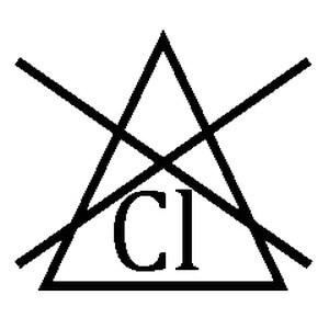 Треугольник с буквами CL перечеркнутый