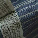 Значки на этикетке юбки