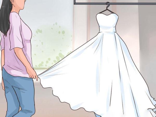 Стирка платья дома