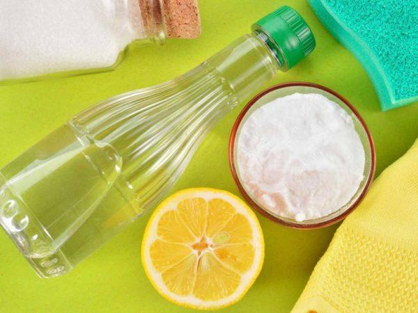 Раствор соды, лимона и уксуса