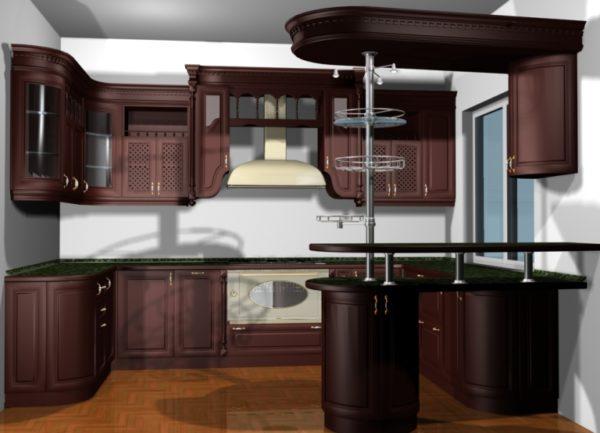 Деревянная кухня для дома