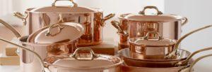 Медные изделия не любят посудомоечные машины