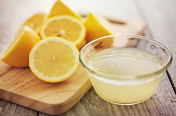 А пробовали лимонный сок?