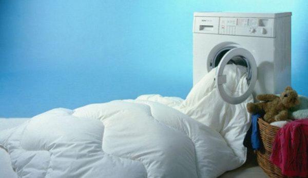 Одеяло тоже стирается в машинке