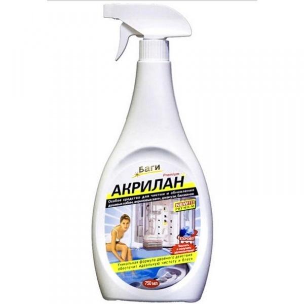 Акрилан —пена, спомощью которой легко чистятся раковины идушевые кабинки изакрила