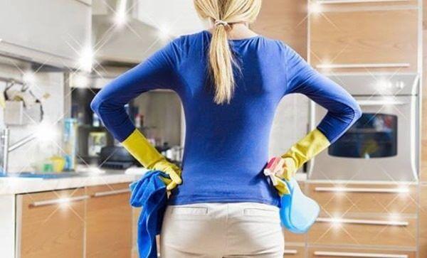 Как мыть мебель на кухне