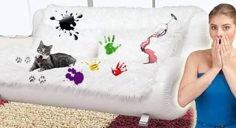 Как убрать пятна с мягкой мебели?