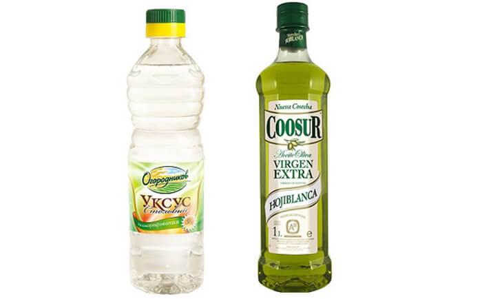 Оливковое масло + уксус