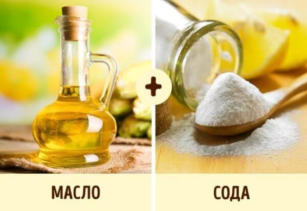 Сода и растительное масло
